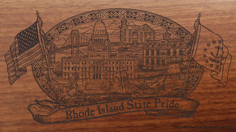 rhode island state engraved rifle buttstock