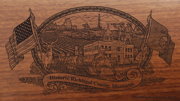 Richland County Montana Engraved Rifle