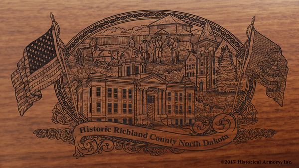 Richland County North Dakota Engraved Rifle