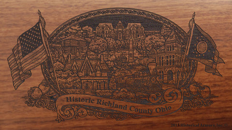 richland county ohio engraved rifle buttstock
