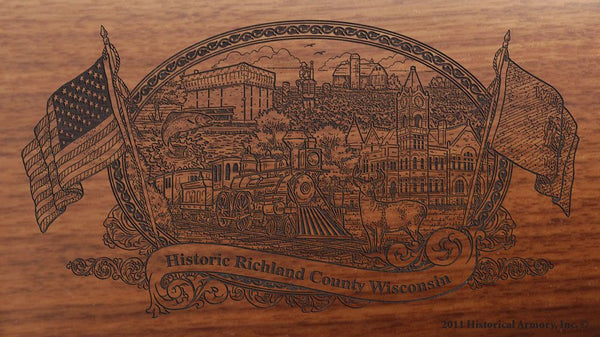 richland county wisconsin engraved rifle buttstock