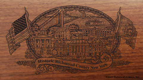 Richmond County New York Engraved Rifle