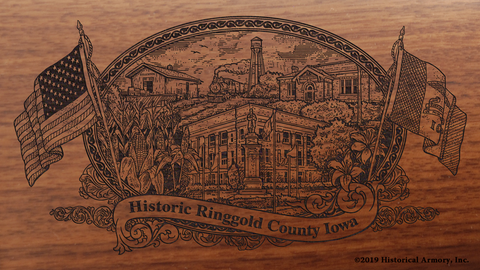 Ringgold County Iowa Engraved Rifle