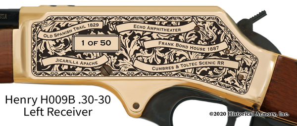Rio Arriba County New Mexico Engraved Rifle