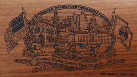 Ritchie County West Virginia Engraved Rifle Buttstock
