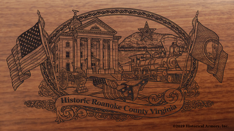 Roanoke County Virginia Engraved Rifle