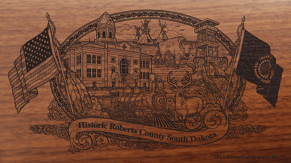 Roberts County South Dakota Engraved Rifle
