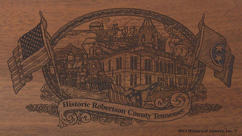 robertson county tennessee engraved rifle buttstock