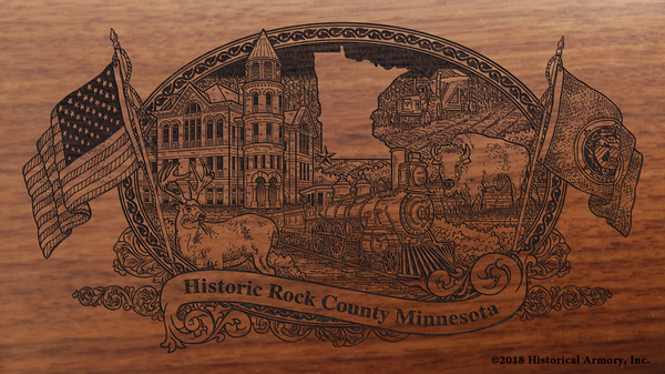 Rock County Minnesota Engraved Rifle
