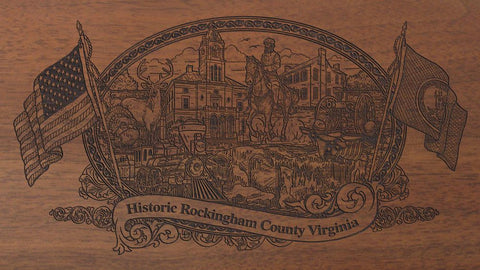 rockingham county virginia engraved rifle buttstock
