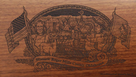 roger mills county oklahoma engraved rifle buttstock