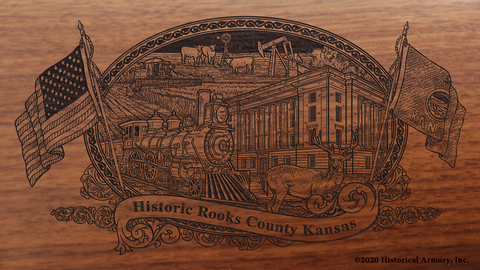 Rooks County Kansas Engraved Rifle