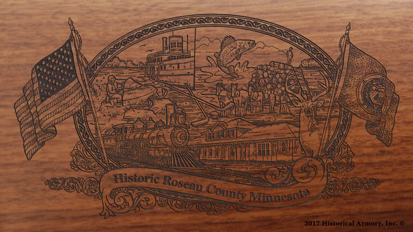 Roseau County Minnesota Engraved Rifle