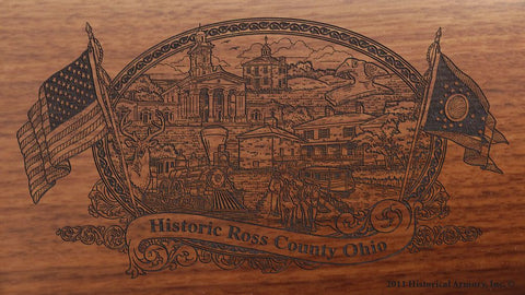 ross county ohio engraved rifle buttstock
