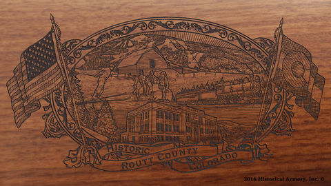 Routt County Colorado Engraved Rifle