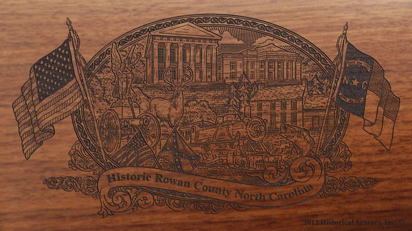 rowan county north carolina engraved rifle buttstock