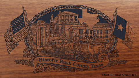 rusk county texas engraved rifle buttstock