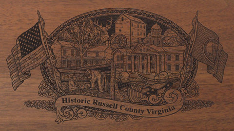 russell county virginia engraved rifle buttstock