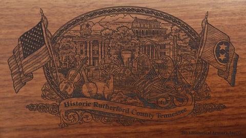 rutherford county tennessee engraved rifle buttstock