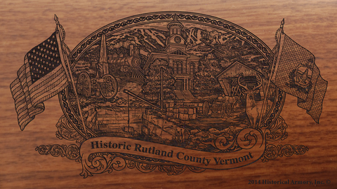 Rutland County Vermont Engraved Rifle