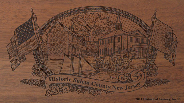 salem county new jersey engraved rifle buttstock