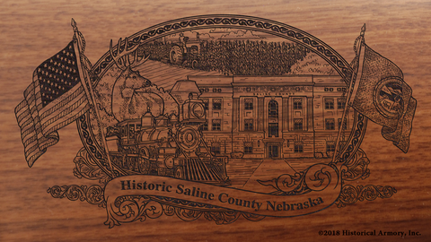 Saline County Nebraska Engraved Rifle