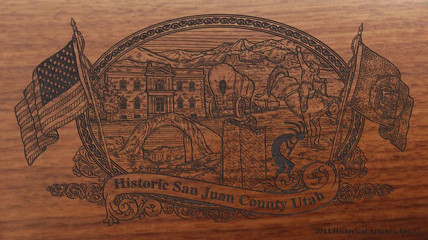 san juan county utah engraved rifle buttstock