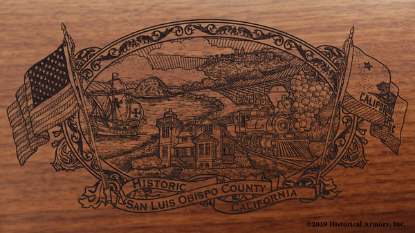 San Luis Obispo County California Engraved Rifle