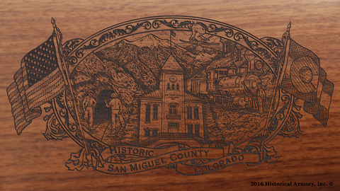 San Miguel County Colorado Engraved Rifle