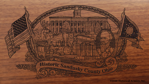 Sandusky County Ohio Engraved Rifle
