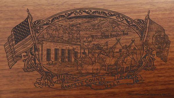 sanpete county utah engraved rifle buttstock