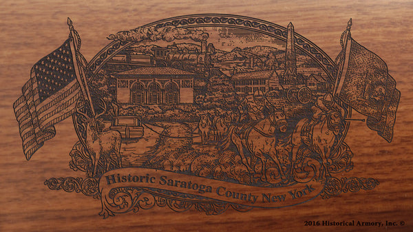 Saratoga County New York Engraved Rifle