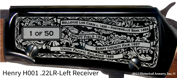 Sarpy County Nebraska Engraved Rifle