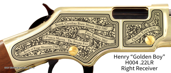 South Carolina State Pride Engraved Rifle
