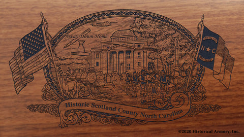 Scotland County North Carolina Engraved Rifle Buttstock