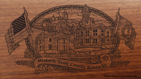 Scott County Kentucky Engraved Rifle