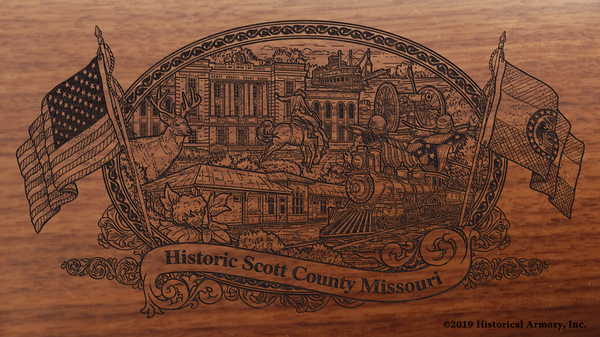 Scott County Missouri Engraved Rifle