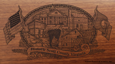 Scott County Virginia Engraved Rifle