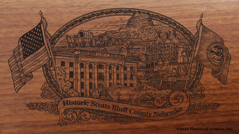 Scotts Bluff County Nebraska Engraved Rifle