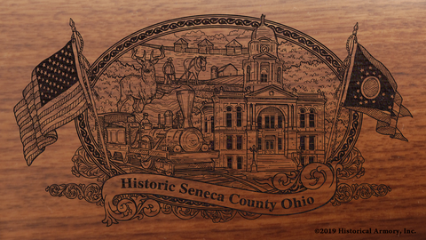 Seneca County Ohio Engraved Rifle