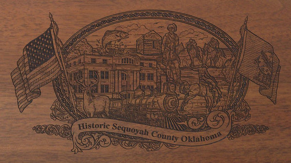sequoyah county oklahoma engraved rifle buttstock