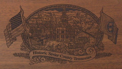 sevier county tennessee engraved rifle buttstock