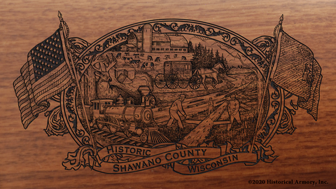 Shawano County Wisconsin Engraved Rifle
