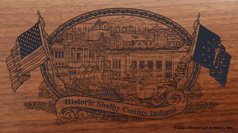 Shelby County Indiana Engraved Rifle Buttstock