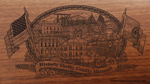 Shelby County Missouri Engraved Rifle