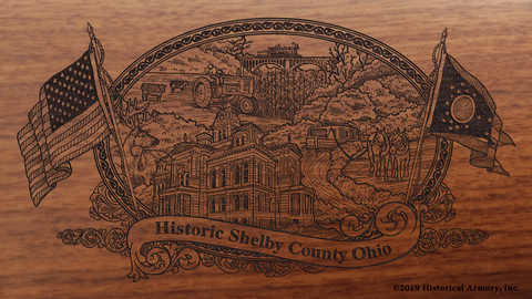Shelby County Ohio Engraved Rifle