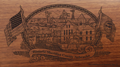 Sheridan County Nebraska Engraved Rifle