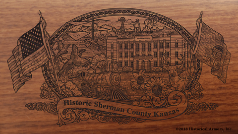 Sherman County Kansas Engraved Rifle