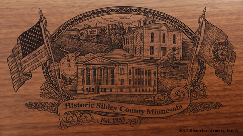 Sibley County Minnesota Engraved Rifle