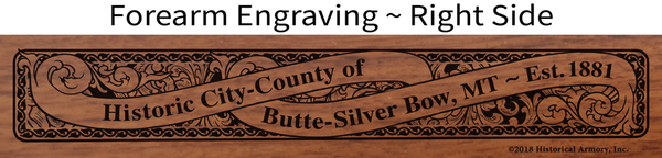 Silver Bow County Montana Engraved Rifle